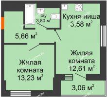 1 комнатная квартира 40,89 м² - ЖК Олимпийский