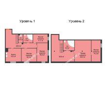 4 комнатная квартира 182,2 м², Клубный дом Green Вита (Грин Вита) - планировка