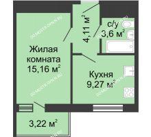 1 комнатная квартира 35,4 м² - ЖК Алый Парус