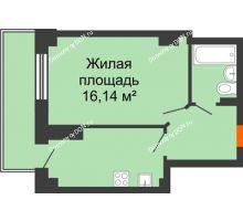 1 комнатная квартира 34,85 м² в ЖК Сокол Градъ, дом Литер 6 - планировка