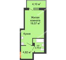 Студия 30 м², ЖК Дом на 14-й Линии - планировка