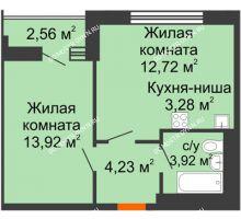 1 комнатная квартира 40,64 м² - ЖК Олимпийский