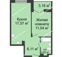 1 комнатная квартира 40,22 м² в ЖК Клевер, дом № 1