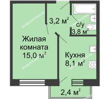 1 комнатная квартира 30,8 м² в ЖК Окский берег, дом №1, Индустриальная улица