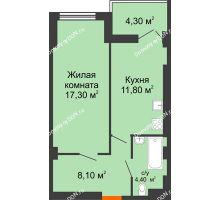 1 комнатная квартира 43,2 м² - ЖК Уютный дом на Мечникова