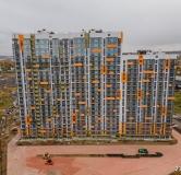 Ход строительства дома № 6 в ЖК Мичуринские аллеи -